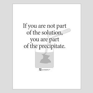 Solution Precipitate (beaker) - Small Poster