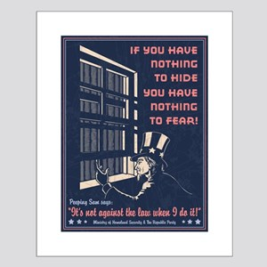 Peeping Sam Small Poster