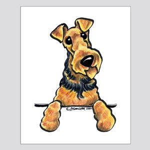 Welsh Terrier Paws Up Small Poster