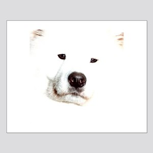 Samoyed Face Small Poster