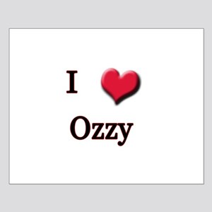 I Love (Heart) Ozzy Small Poster