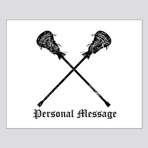 Personalized Lacrosse Sticks Small Poster