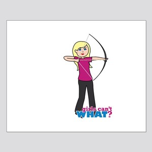 Archery Girl Light/Blonde Small Poster