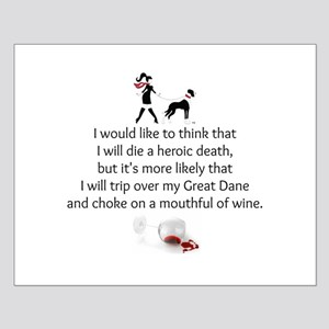 Wine Quote Small Poster