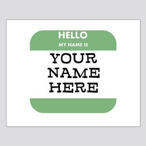 Custom Green Name Tag Posters