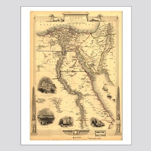 Ancient Egypt Map Small Poster