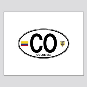 Colombia Euro Oval Small Poster