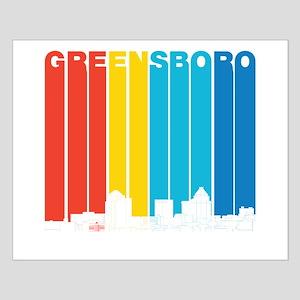 Retro Greensboro North Carolina Skyline Posters