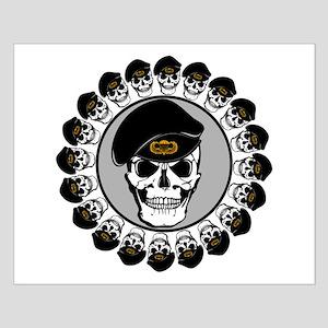 Airborne Skulls Small Poster