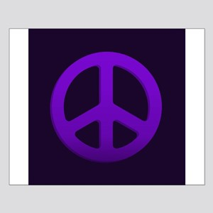 Purple Fade Peace Sign Posters