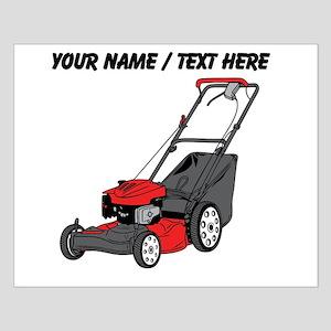 Custom Red Lawnmower Posters