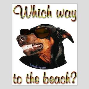 Beach Dobe Small Poster