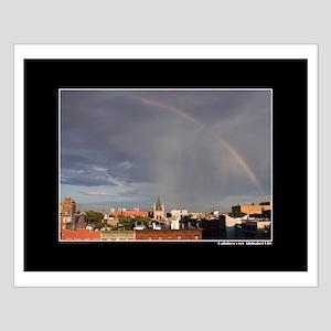 Rainbow over Alphabet City Small Poster