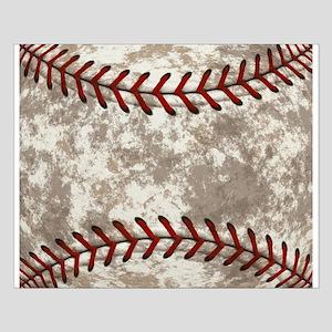 Baseball Vintage Distressed Small Poster
