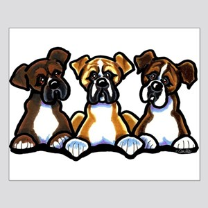 Three Boxer Lover Small Poster