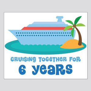 6th Anniversary Cruise Small Poster