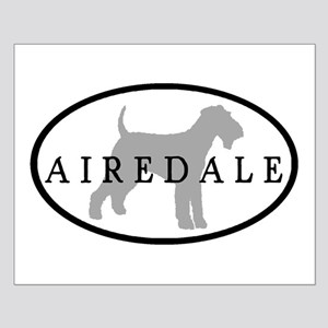 Airedale Terrier Oval #3 Small Poster