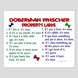 Doberman Pinscher Property Laws 2 Small Poster