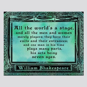 Shakespeare - All The World's A Stage Small Po