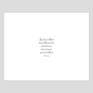 JOHN  8:47 Small Poster