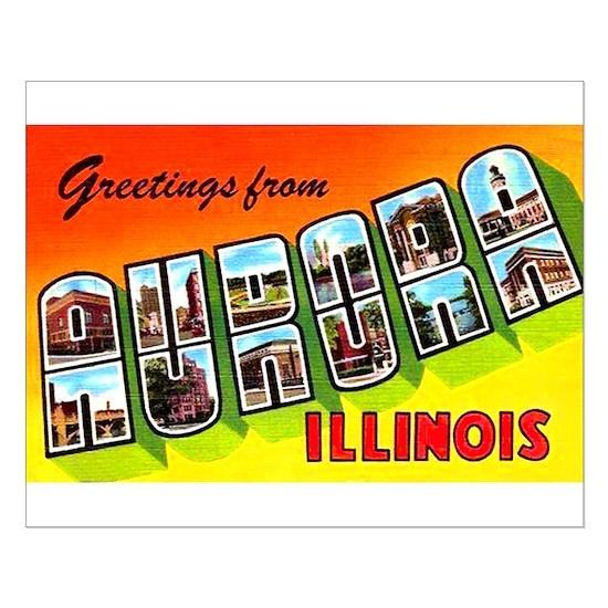 Aurora Illinois Greetings Small Poster by ShirtsJunkie ...