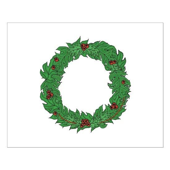 Small Christmas Wreaths.Christmas Wreath Small Poster