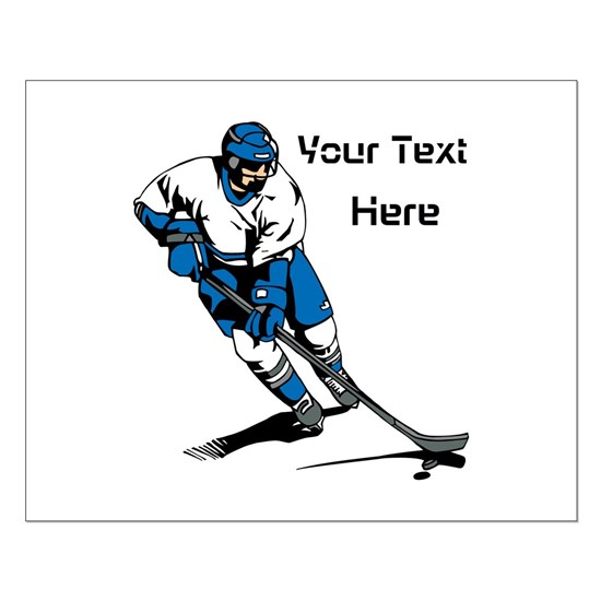 Icy Hockey. With Your Text.