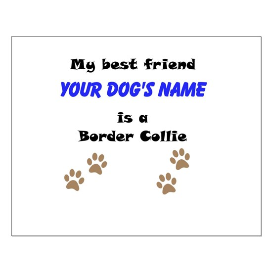 Custom Border Collie Best Friend