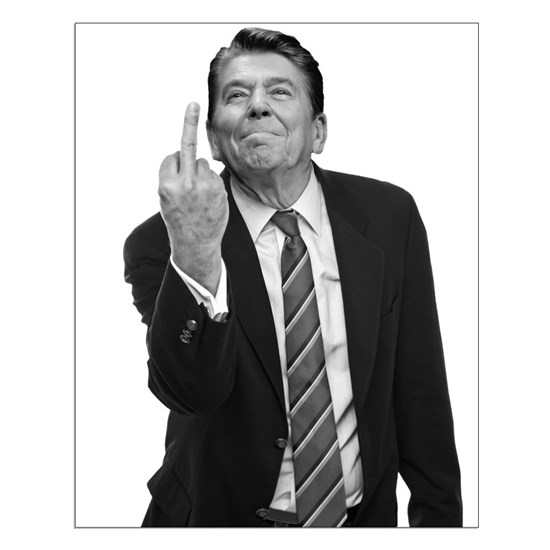 Ronald Reagan Middle Finger