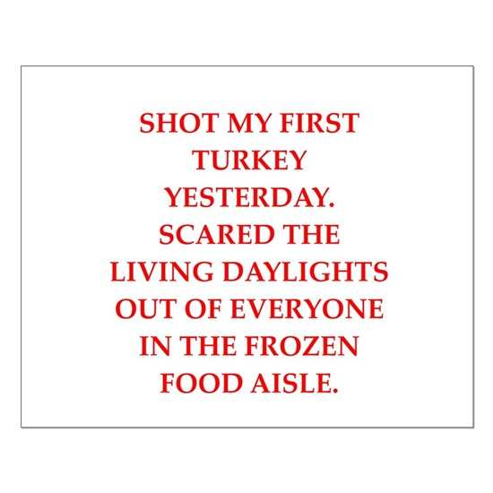turkey shoot Small Poster