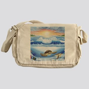 turtles world large Messenger Bag