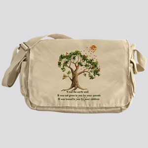 Kenyan Nature Proverb Messenger Bag