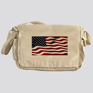 American Flag USA Messenger Bag