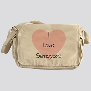 I Love Samoyeds Messenger Bag