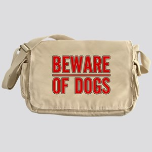 Beware of Dogs(White) Messenger Bag