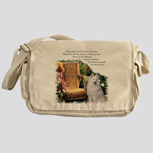 Samoyed Art Messenger Bag