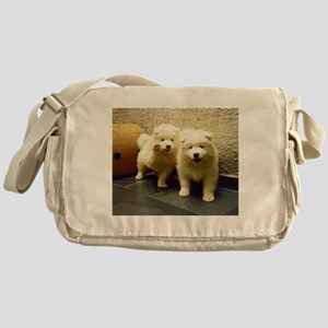 LS samoyed puppy Messenger Bag