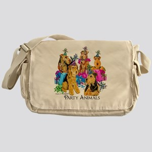 Airedale Terrier Party Messenger Bag