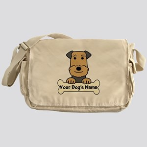 Personalized Airedale Messenger Bag