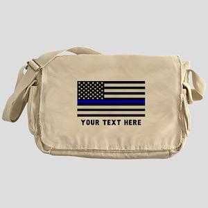 Thin Blue Line Flag Messenger Bag
