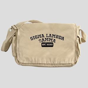 Alpha Sigma Alpha Athletic Messenger Bag