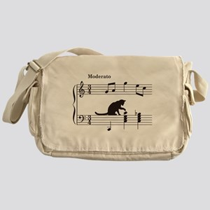Cat Toying with Note v.2 Messenger Bag