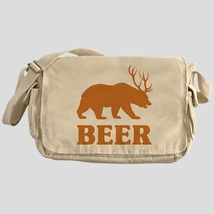 Bear+Deer=Beer Messenger Bag