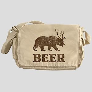 Bear+Deer=Beer Vintage Messenger Bag
