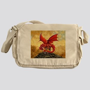 Red Dragon's Treasure Chest Messenger Bag