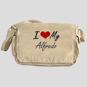 I Love My Alfredo Messenger Bag