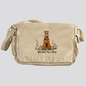 Working Airedale Terrier Messenger Bag
