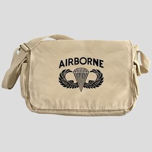 Jump Wings Stencil Messenger Bag