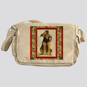 Airedale Terrier Christmas Messenger Bag