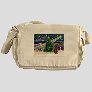 Xmas Magic & Airedale (#1) Messenger Bag